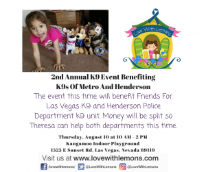 2nd Annual K9 Event